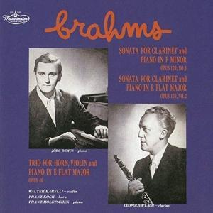 CD/レオポルト・ウラッハ/ブラームス:クラリネット・ソナタ第1番・第2番 ホルン三重奏曲 (UHQ...