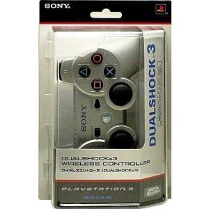 中古PS3ハード ワイヤレスコントローラDUALSHOCK3 サテンシルバー