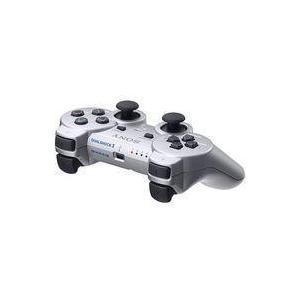 中古PS3ハード ワイヤレスコントローラDUALSHOCK3 サテンシルバー(状態:本体状態難)