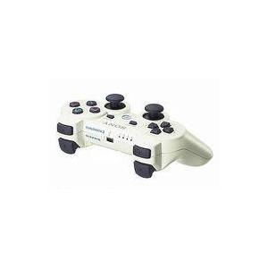中古PS3ハード ワイヤレスコントローラDUALSHOCK3 クラシック・ホワイト(状態:本体状態難...