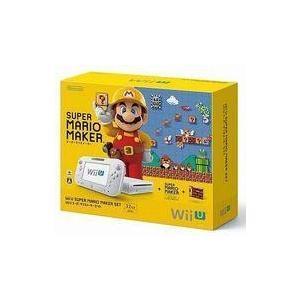 中古WiiUハード WiiU本体 スーパーマリオメーカーセット (状態:本体・GAMEPAD状態難)