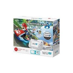 中古WiiUハード WiiU本体 マリオカート8セット shiro (状態:Wiiリモコンプラス・縦...