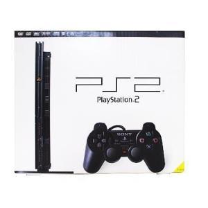 中古PS2ハード プレイステーション2本体 チャコールブラック(SCPH-70000CB)