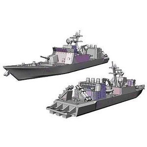 中古プラモデル 1/700 ミサイル艇 はやぶさ うみたか 「ウォーターライン巡洋艦 NO.016」