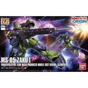 新品プラモデル 1/144 HG MS-05 ザクI (デニム/スレンダー機) 「機動戦士ガンダム THE ORIGIN」|suruga-ya