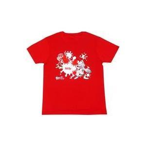 中古Tシャツ(キャラクター) ポッキーチョコ Tシャツ レッド フリーサイズ 「ポッキー×Splat...