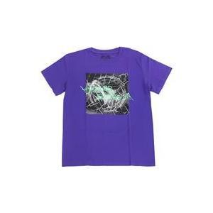 中古Tシャツ(女性アイドル) 欅坂46 アリーナツアー2019ロゴTシャツ パープル Mサイズ 「欅...