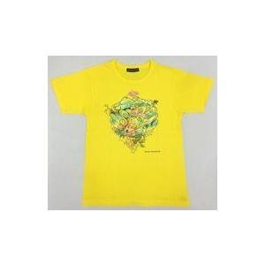 中古Tシャツ(男性アイドル) 大野智(嵐)デザイン チャリTシャツ イエロー 120サイズ 「24時...