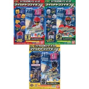 新品食玩 プラモデル 全3種セット 「ミニプラEX 動物戦隊ジュウオウジャー マイクロ合体シリーズ01 ワイルドト