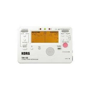 中古デジタル楽器 KORG コンボチューナーメトロノーム (ホワイト) [TM-50-PW]|suruga-ya