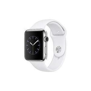 中古スマートウォッチ Apple Watch 42mm ホワイトスポーツバンド/ステンレススチールケース [MJ3V2J/A] suruga-ya