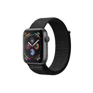 中古スマートウォッチ Apple Watch Series 4 GPSモデル 44mm (スペースグレイ/ブラックスポーツル suruga-ya