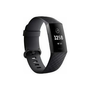 中古スマートウォッチ Fitbit Charge3 フィットネストラッカー L/Sサイズ (Black/Graphite)  [FB410GMBK- suruga-ya