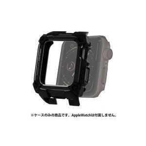 中古スマートウォッチ エレコム Apple Watch SeriIes 4(44mm)用 ZEROSHOCKケース (ブラック) [AW-4 suruga-ya