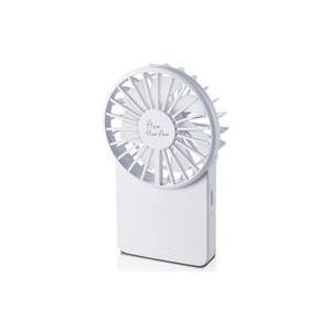 新品空調家電 エレコム flowflowflowコンパクトハンディファン (ホワイト) [FAN-U202WH]|suruga-ya