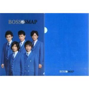 中古クリアファイル(男性アイドル) BOSS×SMAP A4クリアファイル(青) デイリーヤマザキ購...