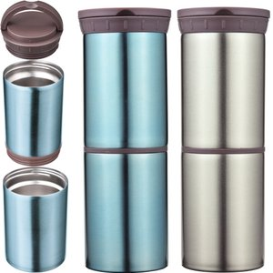缶・ペットボトルを保冷保温 真空二重構造 マルチステンレスポット ハンドル付きでフードポットにも (...
