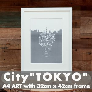 「City of Tokyo」 アートポスター ニューヨーク フレーム付き|susabi