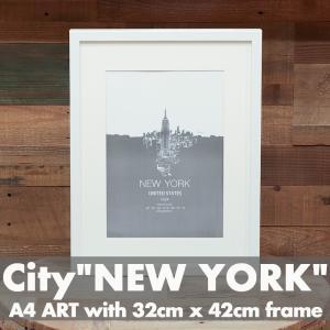 「City of New York」 アートポスター ニューヨーク フレーム付き|susabi