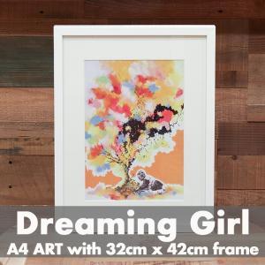 「Dreaming Girl」 アートポスター ニューヨーク フレーム付き|susabi