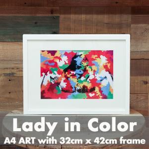 「Lady in Color」 アートポスター ニューヨーク フレーム付き|susabi