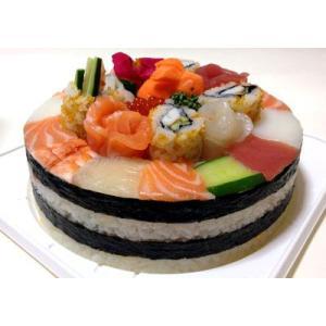 お寿司のバースデーケーキ