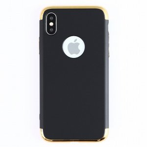 iPhone X メタリックカバー ガラスフィルム付属 iPhoneX 耐衝撃 ハード カバー アイフォンX スマホケース|susumu