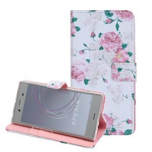 Xperia XZ1 Compact 手帳型 薔薇 XperiaXZ1compact  耐衝撃 エクスペリアXZ1 コンパクト エックスゼットワン so-02k docomo|susumu