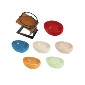 ペット用品 グルメフリーテーブル150+カラーボール120 アニーレッド(ペット 食器)|suteki-roseyrose