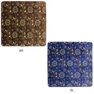 ホットカーペットカバー クロッシェ 約185×185cm BR・240609004(秋冬家電)|suteki-roseyrose