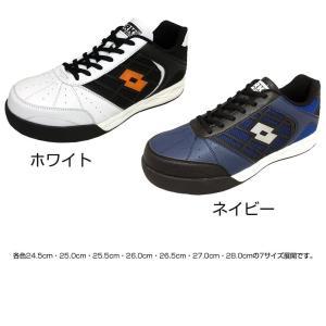 オカモト化成品 LOTTO(ロット) WORKS 安全靴 LW-S7002 ホワイト・24.5cm(ガーデニング・花・植物・DIY)|suteki-roseyrose
