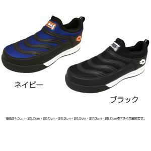 オカモト化成品 LOTTO(ロット) WORKS 安全靴 LW-S7004 ネイビー・24.5cm(ガーデニング・花・植物・DIY)|suteki-roseyrose