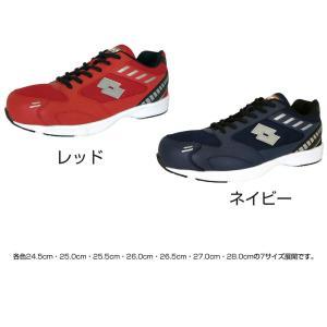 オカモト化成品 LOTTO(ロット) WORKS 安全靴 LW-S7006 レッド・24.5cm(ガーデニング・花・植物・DIY)|suteki-roseyrose