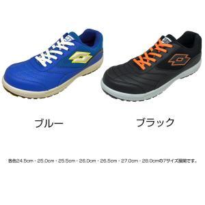 オカモト化成品 LOTTO(ロット) WORKS 安全靴 LW-S7007 ブルー・24.5cm(ガーデニング・花・植物・DIY)|suteki-roseyrose