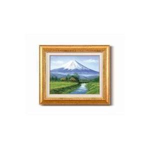 田所 洋油絵額F6金 「富士・忍野」 1103540 sutekihiroba