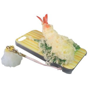 日本職人が作る  食品サンプルiPhone5ケース 天ぷら えび  ストラップ付き  IP-217|sutekihiroba