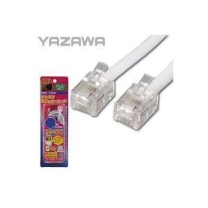 YAZAWA(ヤザワ) ストレートモジュラーケーブル 15m 6極2芯/4芯 TP1150W|sutekihiroba
