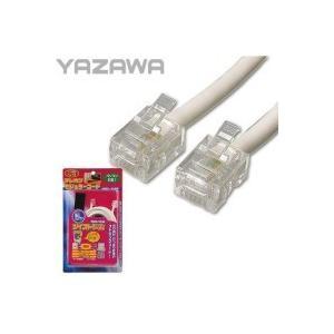 YAZAWA(ヤザワ) ツイストモジュラーケーブル 10m 6極2芯/4芯 TP3100W|sutekihiroba