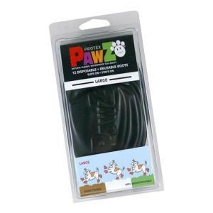 正規輸入品 アメリカ Pawz Dog Boots社製 ポウズ ラバー・ドッグ・ブーツ L Black PZBLKL|sutekihiroba