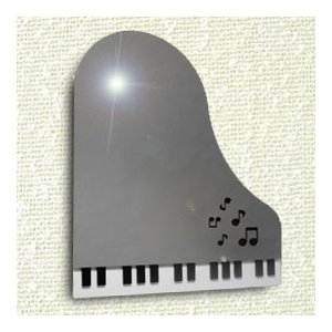 ステンレスミラー130 ピアノ鍵盤 音符|sutekihiroba
