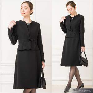 日本製生地 喪服 礼服 レディース ブラックフォーマル スーツ|sutekitaiken|12