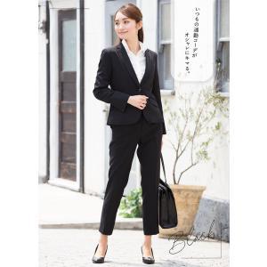 スーツ レディース パンツスーツ ビジネス リクルートスーツ OL テーラード フルレングス丈 ストレッチ 女性 面接 大きいサイズ 小さいサイズ|sutekitaiken|16