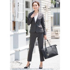 スーツ レディース パンツスーツ ビジネス リクルートスーツ OL テーラード フルレングス丈 ストレッチ 女性 面接 大きいサイズ 小さいサイズ|sutekitaiken|19