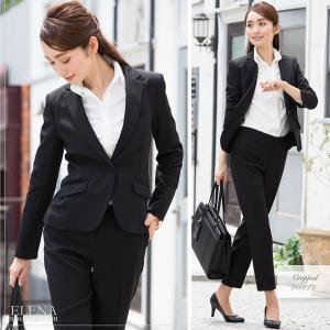 スーツ レディース パンツスーツ ビジネス リクルートスーツ OL テーラード フルレングス丈 ストレッチ 女性 面接 大きいサイズ 小さいサイズ|sutekitaiken|07