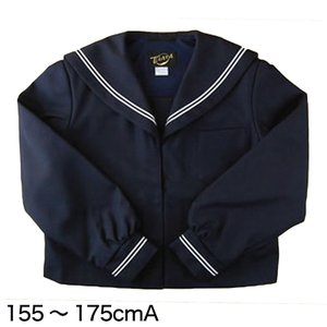 Tiara 1402シリーズサージ織り 白2本ライン 女子セーラー服 155cmA〜175cmA (学生服 制服 中学校 高校) (送料無料) (取寄せ)|suteteko