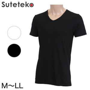 メンズ 吸湿発熱 半袖V首シャツ 2枚組(M〜LL) (季節/AIR) (10903)