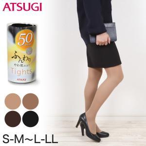 アツギ ふんわり ベアニット 50デニールタイツ (S-M〜L-LL) (季節) (fp3850)