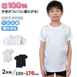 グンゼ 子供肌着 半袖丸首シャツ 2枚組 100cm〜170cm (子供 下着 男の子 小学生 120 130 140 インナー 綿100% 男子 半袖 シャツ 綿 キッズ)|suteteko