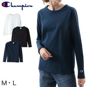 Champion レディース ロングスリーブTシャツ M・L (チャンピオン 長袖 綿100% コットン100%) (在庫限り) suteteko
