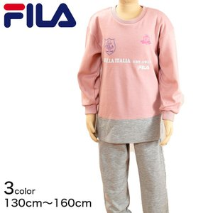 FILA 女児 長袖ホームウェア 130cm〜160cm (子供 女の子 ルームウェア) (在庫限り)|suteteko